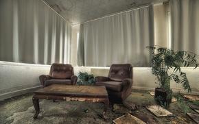 Картинка стол, комната, кресла