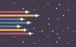 Картинка звезды, линии, ретро, самолеты