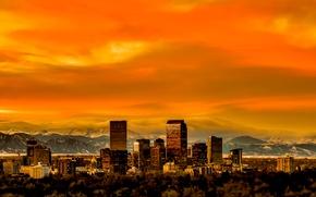 Картинка Колорадо, панорама, skyline, Denver, Colorado, Денвер