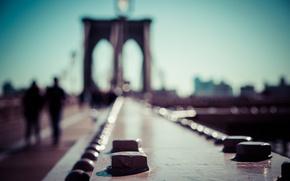 Картинка United States, Brooklyn, New York, Manhattan, people, Brooklyn Bridge, urban scene