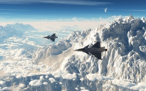 Картинка mountain peak maneuver, небо, горы