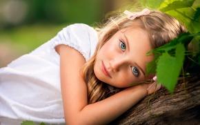 Картинка девочка, взгляд, Like a Doll, chld photography, веснушки