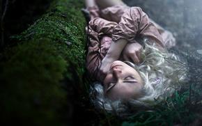 Картинка лес, жертва, сумрак, малышка, канава, летаргический сон