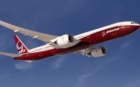 Картинка скорость, Boeing, Полёт, Боинг, Самолёт, Пассажирский, B-777