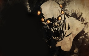 Картинка creature, golden balls, fear