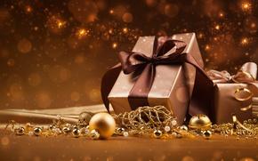 Картинка звезды, украшения, lights, огни, шары, новый год, подарки, new year, balls, stars, decoration, gifts, ornaments, …