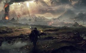 Обои воин, призрак, Властелин Колец, The Lord of the Rings, Мордор, Рейнджер, Талион, Middle-earth: Shadow of ...