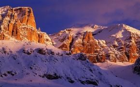 Картинка небо, снег, горы