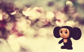 Картинка lights, яркие, игрушки, куклы, Макро, фонари, чебурашка, toy, bright, puppet