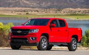 Картинка Chevrolet, Red, Colorado, Z71, PickUp