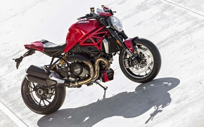Картинка red, Ducati, Monster, moto, road, bike, Legend, classic, 2016, 1200R