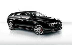Картинка Alfa Romeo, Black, Alfa Romeo Wallpaper, Alfa Sportwagon, Sportwagon, Alfa Romeo 159 Wallpaper, Alfa Black, ...