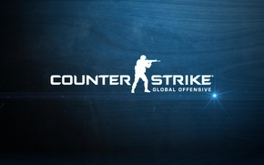 Картинка game, counter-strike, blue background, global offensive, cs go