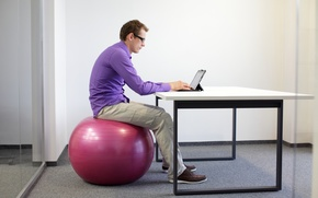 Картинка notebook, office, working, exercise ball