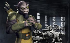 Картинка animated series, Star Wars Rebels, Звездные войны Повстанцы, Zeb, Зеб
