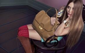 Картинка фотосессия, Elizabeth Olsen, бренд «Miu Miu»