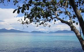 Картинка природа, океан, вид, Thailand, лагуна