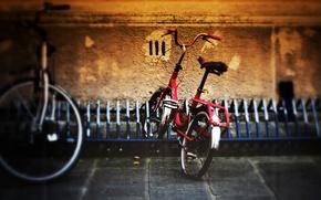 Картинка велосипед, город, стоянка