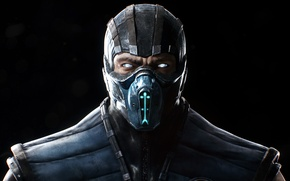 Картинка Взгляд, Маска, Sub-Zero, Саб-Зиро, Экипировка, Warner Bros. Interactive Entertainment, NetherRealm Studios, Mortal Kombat X