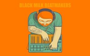 Обои Логотип, микшер, Black Milk Beatmakers, Минимализм, Лого
