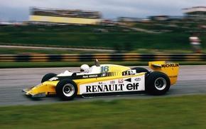 Картинка Renault, Sport, Retro, F1, Rene Arnoux