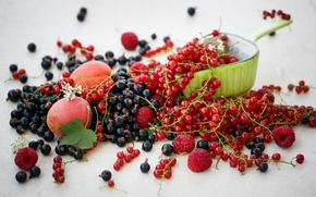Картинка красная, абрикосы, ягоды, малина, фрукты, черная, еда, смородина