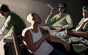 Картинка райдер, gta, карл джонсон, Grand Theft Auto, Rockstar Games, San Andreas, свит джонсон, биг смоук