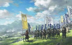 Картинка Япония, солдаты, воины, Самураи, буси, бусидо