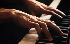 Картинка музыка, руки, пианино