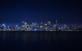 Картинка City, Skyline, Island, Bay, Architecture, San-Francisco, Ligth, Nigth, Treasure