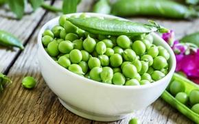Картинка горох, чашка, горошины, зелёный горошек, green peas