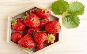 Обои strawberry, red, спелая, красная, ягоды, berries, sweet, fresh, клубника