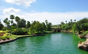 Картинка озеро, парк, USA, США, Америка, Orlando, Florida, Universal