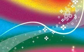 Обои стиль, абстракции, цвета, узоры, музыка, яркие светящиеся штуки