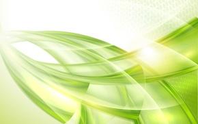 Обои зеленая абстракция, линии, узор