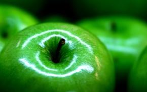 Обои макро, яблоки, еда, фокус, фрукты, food, macro, focus, 2560x1600, fruits, apples