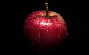 Картинка капли, макро, Apple
