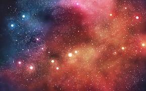 Картинка космос, звезды, туманность, nebula, stars
