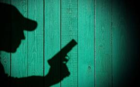 Картинка стены, тень, текстура, силуэт, профиль, детектив, фоне, что, wallpaper., раскрываю, разоблачаю, сыщик, очевидно, пистолетом, увидеть, …