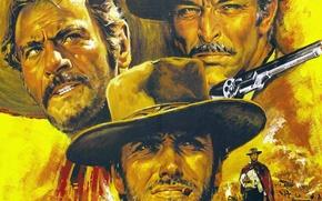 Картинка фильм, цель, злой, приключения, одна, трое, жанр, вестерн, режиссер, плохой, Clint Eastwood, Клинт Иствуд, Хороший, …