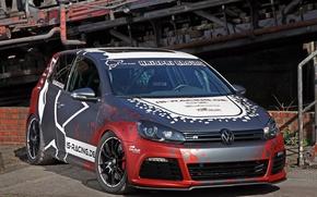 Картинка Volkswagen, Racing, Golf, Tuning, 2014, Cam, Shaft, Haiopai
