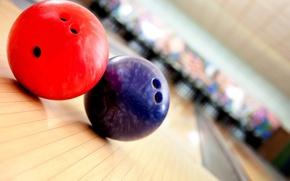Картинка red, blue, bowling