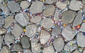 Картинка дорога, камни, фон