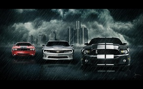 Обои ford, chevrolet, dodge, car's
