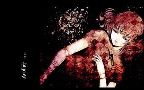 Картинка пустота, голова, руки, art, марионетка, another, Иная, Izumi Akazawa, Ishii Yuriko