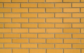 Обои pattern, wall, brick, yellow