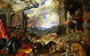 Картинка картина, Ян Брейгель младший, Аллегория Войны