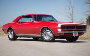 Картинка red, camaro, 1967, chevy