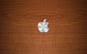 Картинка дерево, apple, текстура, логотип