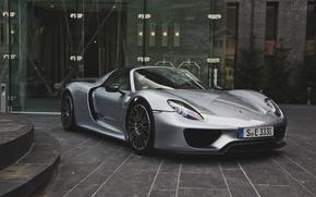 Картинка Porsche, 918, spyder, building